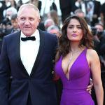 В 2007 году Сальма Хайек помолвилась с французским миллиардером Франсуа-Анри Пино. Фото сделано в 2015 году.