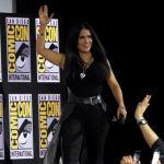 Сальма Хайек на Comic-Con International в 2019 году, где анонсировали, что актриса снимется в фильме Вечные