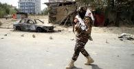 Талибан* кыймылынын согушкери. Архив