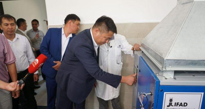Открытие завода по производству жидкого азота на государственной племенной станции Элита по искусственному осеменению сельскохозяйственных животных