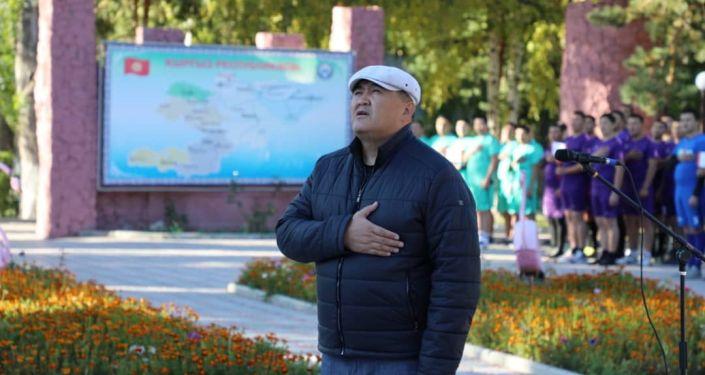 Глава ГКНБ Камчыбек Ташиев на торжественном открытии спартакиады