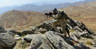 Афганское движение сопротивления патрулирует в районе Анаба, провинция Панджшер, Афганистан