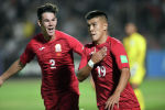 Сборная Кыргызстана по футболу во время матча с Бангладешом