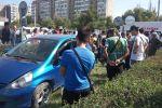 На месте ДТП на пересечении улиц Жукеева-Пудовкина и Безымянной в Бишкеке