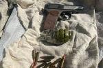 В Бишкеке обнаружен схрон оружия и боеприпасов