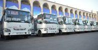Ала-Тоо аянтында жаңы автобустарды тапшыруу иш-чарасы