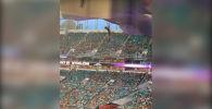 Майами шаарында футбол беттеши учурунда эки команданын күйөрмандарынын чогулуп алып бир кызыкчылыкты ойлоп, түйшөлгөндөн чаңырып, кыйкырып жаткан видеосу тарады.