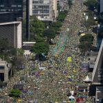 Бразилия президенти Жаир Болсонарунун тарапкерлери Сан-Паулу шаарындагы митинг учурунда