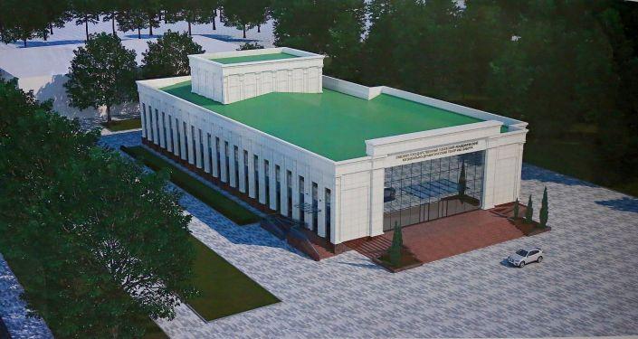 Эскиз реконструкции Ошского музыкально-драматического театра имени Бабура