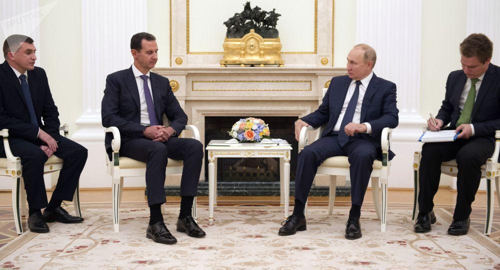 Президент РФ Владимир Путин и президент Сирии Башар Асад во время встречи в Москве
