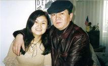 Кыргызский общественный деятель, журналист Мелис Эшимканов с дочерью Жылдыз