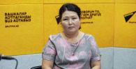 Улуттук статистика комитетинин демографиялык статистика бөлүмүнүн жетектөөчү адиси Назира Дөөткулова