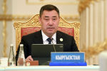 Президент Кыргызской Республики Садыр Жапаров на сессии Совета коллективной безопасности ОДКБ в Душанбе, высказал позицию Кыргызской Республики по ситуации в Исламской Республике Афганистан. 16 сентября 2021 года