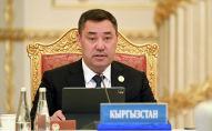 Мамлекет башчы Садыр Жапаров. Архивдик сүрөт