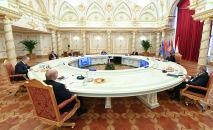 Президент Кыргызской Республики Садыр Жапаров на сессии Совета коллективной безопасности (ОДКБ) в Душанбе. 16 сентября 2021 года
