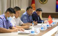 Министр внутренних дел Кыргызстана Улан Ниязбеков на встрече с российской делегацией