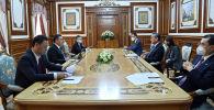 Кытайдын Тышкы иштер министри Ван И президент Садыр Жапаров менен жолукту
