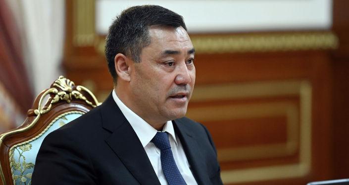 Президент Кыргызской Республики Садыр Жапаров принял члена Государственного совета, министра иностранных дел Китайской Народной Республики Ван И. 16 сентября 2021 года
