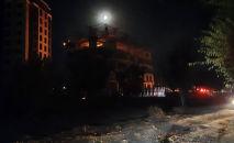 Пожар на стройке близ микрорайона Асанбай в Бишкеке локализовали