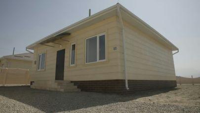 Один из домов построенных для семей погибших в результате вооруженного конфликта на кыргызско-таджикской границе