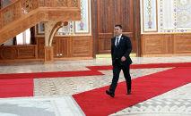Президент Кыргызской Республики Садыр Жапаров прибыл в комплекс Кохи Навруз для участия в заседании Совета глав государств-членов Шанхайской организации сотрудничества (ШОС) в Душанбе. 17 сентября 2021 года