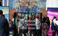 Акция Ветер перемен на площади Ала-Тоо в Бишкеке, организованная дочерью бывшего президента Алмазбека Атамбаева Алией Шагиевой