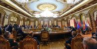 Президенты стран участниц ОДКБ на сессии в Душанбе. 16 сентября 2021 года