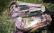 Под Бишкеком в Аламудунском районе обнаружили схрон оружия