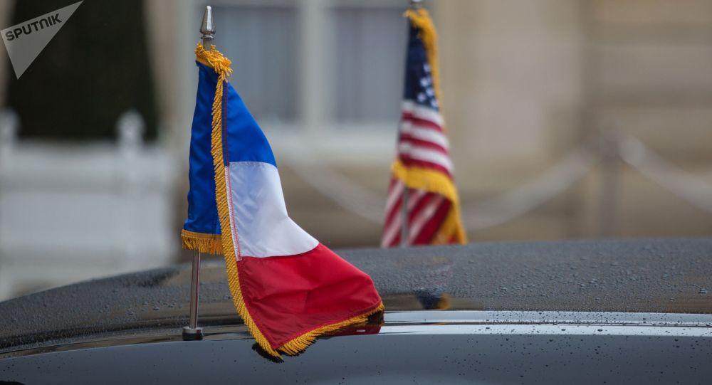 АКШнын жана Франциянын желектери. Архив