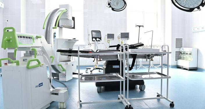 Оборудования в новом корпусе отделении детской онкологии и онкогематологии, построенного на территории Национального центра охраны материнства и детства (НЦОМиД) в Бишкеке