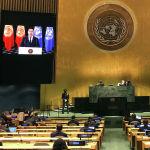 Президент Садыр Жапаров выступил с видеопосланием на 76-й сессии Генеральной Ассамблеи ООН. 21 сентября 2021 года