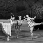 Балерина чыгармачылыгында 20дан ашык партияда бийлеген. Сүрөттө композитор Арам Хачатуряндын Спартак балети.