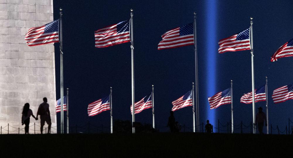 Флаги США в Нью-Йорке. Архивное фото