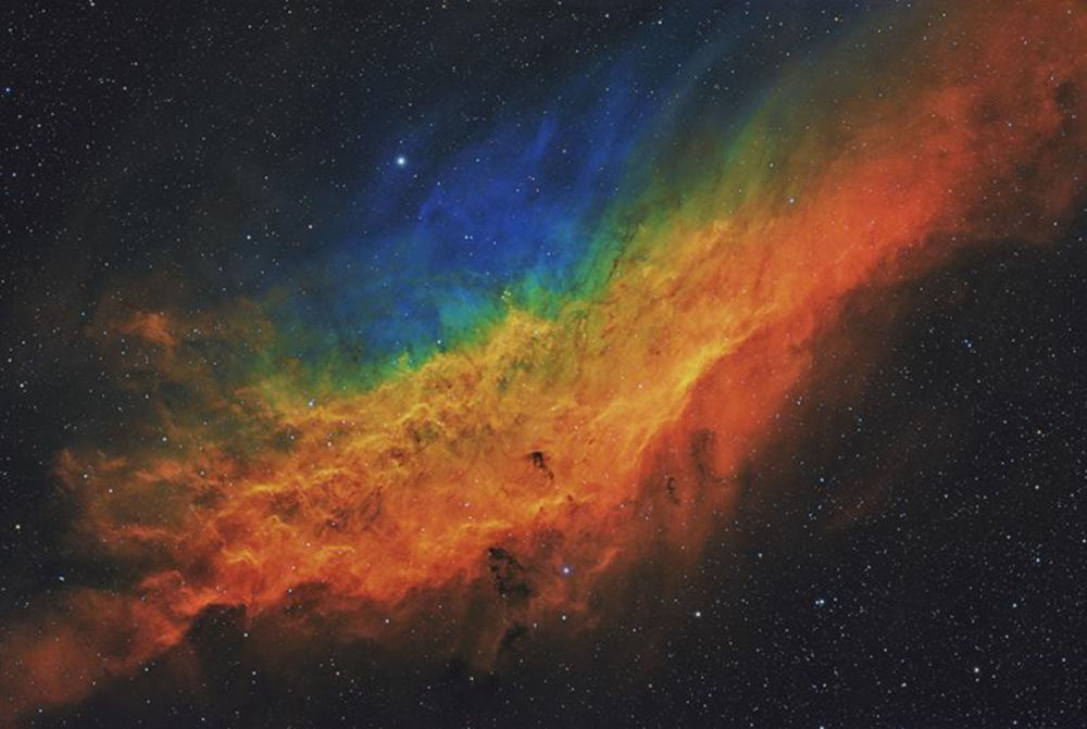 Фото Калифорнийская мечта о NGC 1499 британца Терри Хэнкока победило в категории Звезды и туманности
