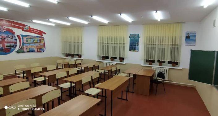 Новый учебный корпус к школе №39 им. А.Султанова в селе Каратай Ошской области, сданный в эксплуатацию