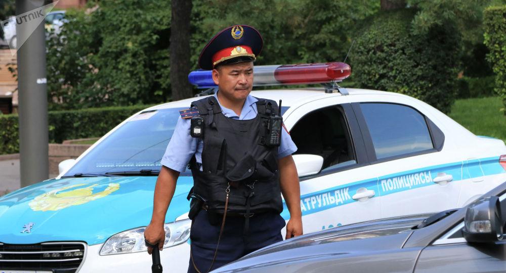 Сотрудник полиции Казахстана. Архивное фото