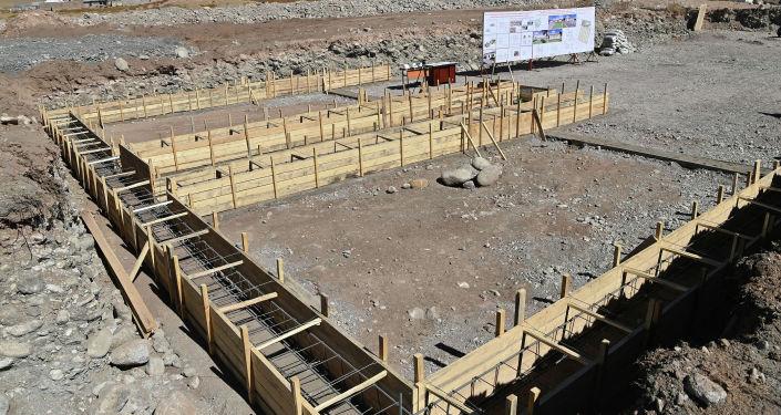 Старт строительства нового городка в Чон-Алайском для этнических кыргызов из Памира