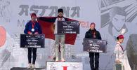 Кыргызстандык жөө күлүк Гүлшаной Сатарова Astana Marathon 2021 Нур-Султан шаарында