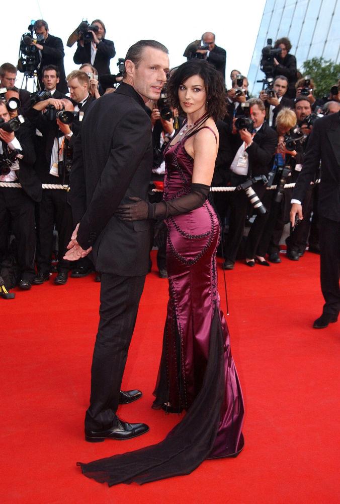2003-жылдын 15-майында өткөн Канн кинофестивалы. Матрица: перезагрузка премьерасында франциялык актёр Ламбер Вильсон менен.