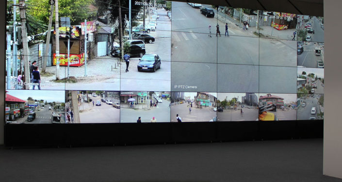 В помещении центра мониторинга второго этапа проекта Безопасный город
