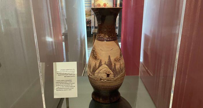 Экспозиция Кыргызстана в двухэтажном павильоне на выставке Expo-2020 Dubai.