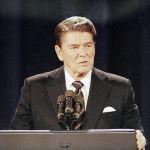 40-й президент США Рональд Рейган
