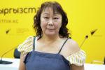 Писатель, дизайнер, журналист и стилист Елена Хусаева в офисе Sputnik Кыргызстан