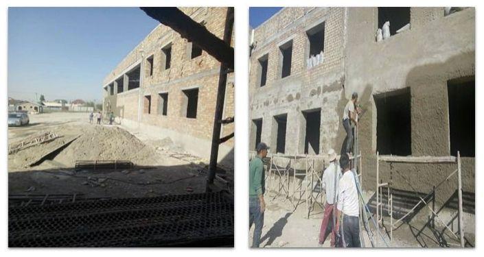 Процесс строительства школы в жилмассиве Арча-Бешик-2 в Бишкеке. 05 октября 2021 года