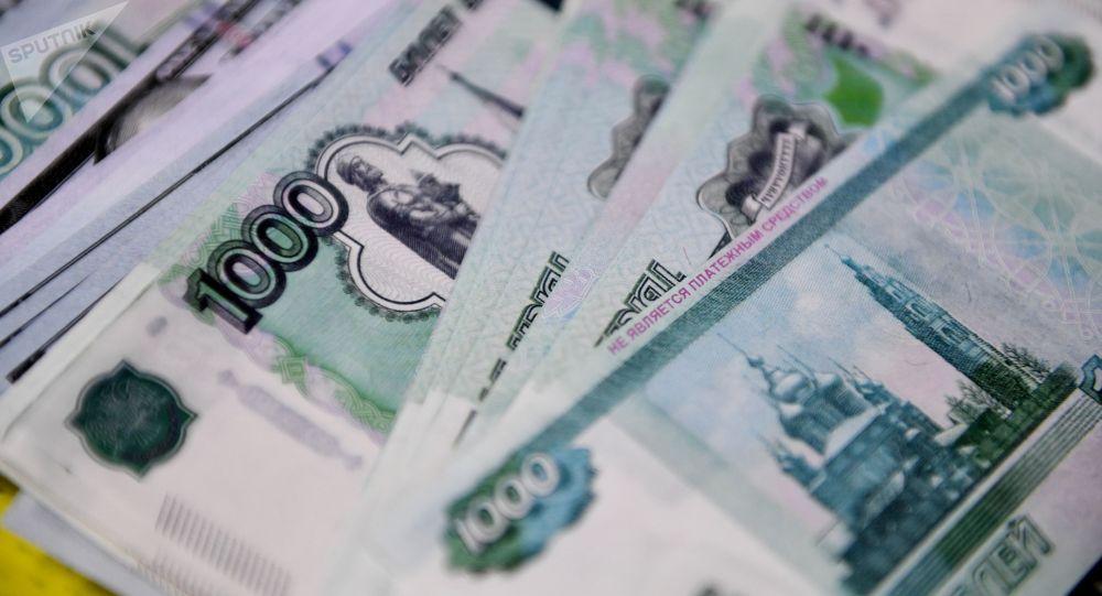 Сувенирные российские рубли. Архивное фото