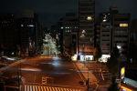 Перекресток после сильного землетрясения в столичном районе Токио