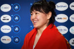 Мээрим Жуманазарова сразу после победы на Чемпионате мира по борьбе обратилась к юным кыргызстанкам.