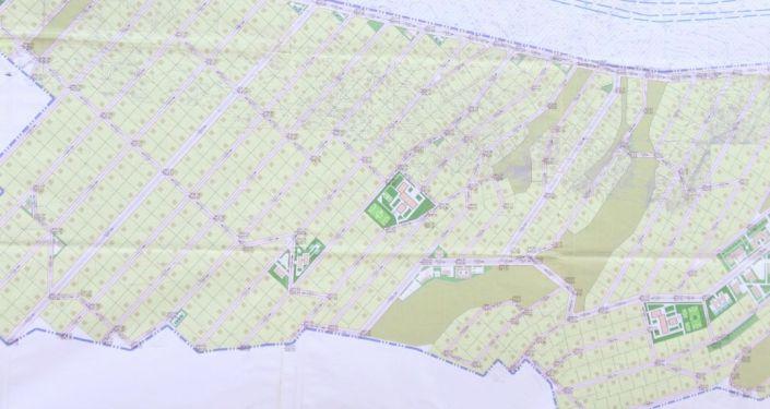 План выделенной земли пострадавшим от наводнения в Баткене. 08 октября 2021 года