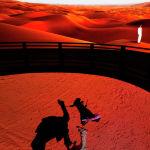Мужчины смотрят экспозицию в павильоне Саудовской Аравии на выставке Expo 2020 в Дубае (ОАЭ). 02 октября 2021 года