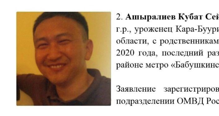 Без вести пропавший в России Кубат Ашыралиев. Архивное фото